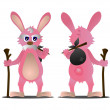 Cartoon rabbit — Stock Photo #28668195