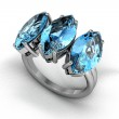 Aquamarine ring — Stock Photo #31509997
