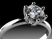 Diamonds ring — Stock Photo