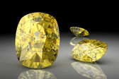 Saphir jaune (image 3d en haute résolution) — Photo