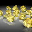 Yellow sapphire (high resolution 3D image) — Stock Photo