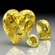 Yellow sapphire (high resolution 3D image) — Stock Photo #33469087