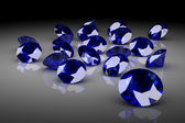 Blue sapphire (high resolution 3D image) — Stock Photo