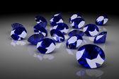 Blue sapphire (high resolution 3D image) — Stock Photo
