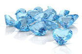 Aquamarine on a white background. — Stock Photo