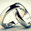 The beauty wedding ring on white background — Stock Photo