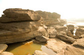 Sam pan bok,Stone in the shape of the natural beauty of the Meko — Stock Photo