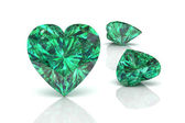 Emerald (high resolution 3D image) — Stok fotoğraf