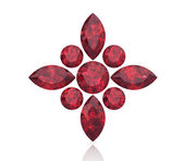Ruby or Rodolite gemstone (high resolution 3D image) — Stock Photo