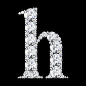 "A stunning beautiful ""h"" set in diamonds — Stock Photo"