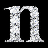 "A stunning beautiful ""n"" set in diamonds — Stock Photo"