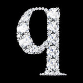 "A stunning beautiful ""q"" set in diamonds — Stock Photo"