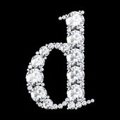 "A stunning beautiful ""d"" set in diamonds — Stock Photo"
