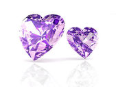 Amethyst on white background with high quality — Stock Photo