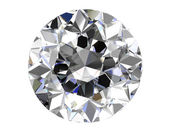 Diamond on white background (high resolution 3D image)   — Stock Photo