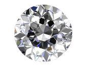 Diamant op witte achtergrond (hoge resolutie 3d-beeld) — Stockfoto