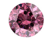 Pink diamond on white background (high resolution 3D image)   — Stock Photo