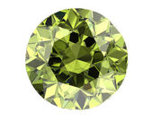 Green diamond on white background (high resolution 3D image)   — Stock Photo