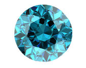 Blue diamond on white background (high resolution 3D image)   — Stock Photo