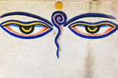 Eyes of buddha — Stock Photo