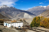 Mountain village in Nepal — Stock Photo