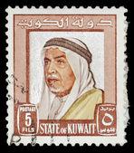 复古科威特邮票 — 图库照片