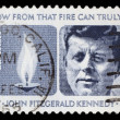 US postage stamp: J.F. Kennedy - Stock Photo