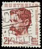 Australian postage stamp: Henry Lawson — Stock Photo
