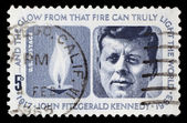 US postage stamp: J.F. Kennedy — Stock Photo