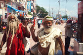 Indian sadhu in Haridwar — Stok fotoğraf