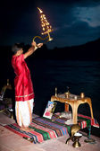 Ganges Aarti — Stock Photo
