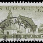 Vintage Finnish postage stamp — Stock Photo