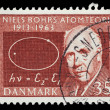 Danish postage stamp — Stock Photo