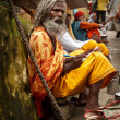 Stock Photo: Sadhu in Rishikesh