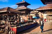 Souvenir market in Swayambhunath — Stock Photo