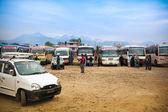 Pokhara autobusové zastávky — Stock fotografie