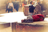 Sleeping nepalese man — Stock Photo