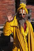 Indischen sadhu begrüßt — Stockfoto