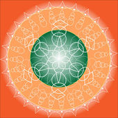Orange Mandala — Stock Vector