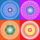 Colored Mandalas — Stock Vector