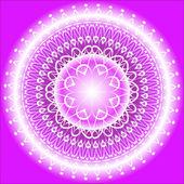 Mandala Indigo — Stock Vector