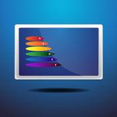 Colored presentation — Stock Vector