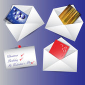 Envelopes with messages — Vettoriale Stock