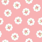 Vector floral seamless pattern with roses — Stock Vector