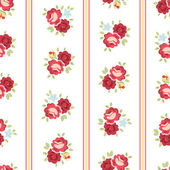 Seamless Shabby Chic inspired Rose Pattern, vector background — Stock Vector