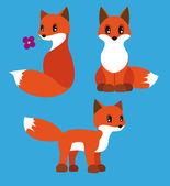 Fox-set — Stock Vector