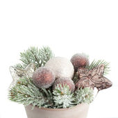 Christmas decoration on the white background. — Stock Photo