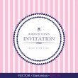 Invitation vintage card. — Stock Vector