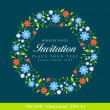 Invitation vintage card. — Vector de stock  #17865213