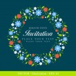 Stock Vector: Invitation vintage card.